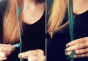 ชอล์กเปลี่ยนสีผม