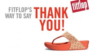 FitFlop way to say Thank You Sale