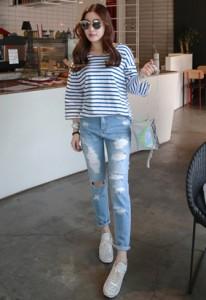 Ripped Denim Jeans
