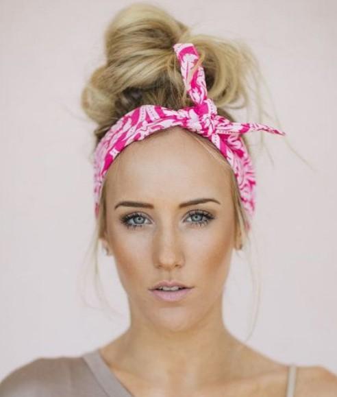 Hairstyle With Bandana