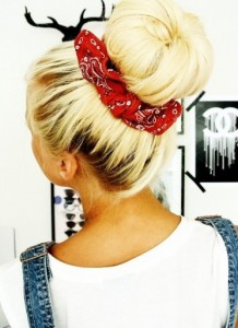 Hairstyle With Bandana